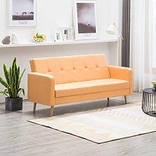 vidaXL Sofá de tela naranja