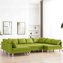 vidaXL Sofá modular de tela verde