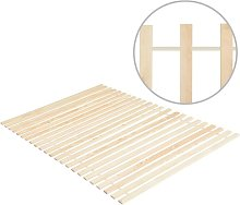 Vidaxl - Somier enrollable con 23 láminas madera