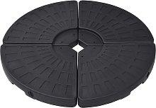 vidaXL Soporte de sombrilla en forma de ventilador