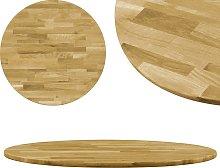 vidaXL Superficie de mesa redonda madera maciza de