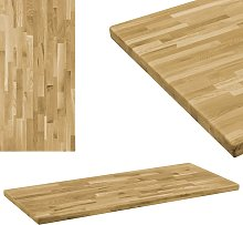 vidaXL Tablero de mesa rectangular madera maciza