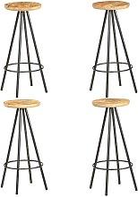 Vidaxl - Taburetes de cocina 4 unidades madera de