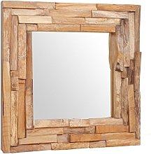 vidaXL Teca Espejo Decorativo 60x60cm Cuadrado