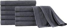 vidaXL Toallas de sauna 5 uds algodón gris