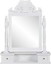 vidaXL Tocador con espejo abatible rectangular de