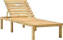 vidaXL Tumbona de jardín de madera de pino