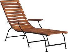 vidaXL Tumbona de jardín de madera maciza de