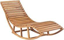 vidaXL Tumbona mecedora de madera maciza de teca
