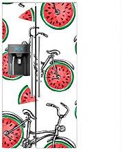 Vinilo Frigorífico Americano Bicicletas Ruedas