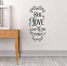 Vinilos decorativos Nuestra historia de amor es mi