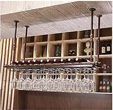 Vino rack techo vino marco metal multifuncional