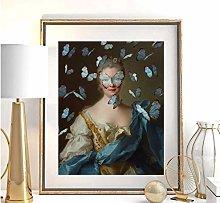Vintage retrato ecléctico impresión máxima arte