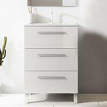 VISOBATH 5038 NOA 80 Mueble+Lavabo 3C Blanco Brillo