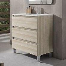 VISOBATH BOX Mueble+Lavabo 3C Crudo - Medida: 80