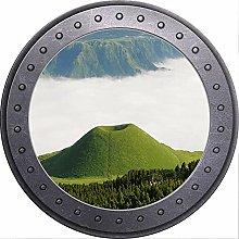 Vista de ojo de buey 3D Impresionante paisaje de