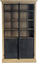 Vitrina 2 puertas de pino reciclada
