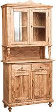 Vitrina alacena de madera maciza de tilo acabada