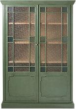 Vitrina con 2 puertas de acacia maciza y vidrio