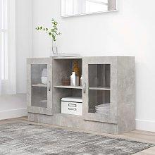 Vitrina de aglomerado gris hormigón 120x30,5x70