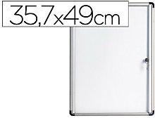 Vitrina de anuncios bi-office fondo magnetico