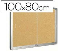 Vitrina de anuncios marco de aluminio 800 x 1000mm