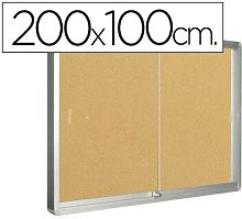 Vitrina de anuncios q-connect marco de aluminio
