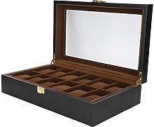 Vitrina de reloj de 12 ranuras, caja de