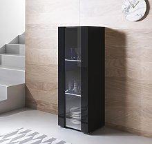 Vitrina modelo Luke V2 (40x128cm) color negro con