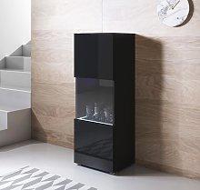 Vitrina modelo Luke V3 (40x128cm) color negro con