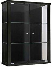 Vitrina Mueble de pared 80x60x25 cm negro con 2
