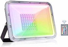 Viugreum 50W RGB LED Foco de Colores, IP67 Foco