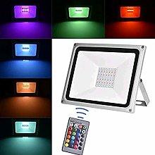Viugreum Foco RGB Led 100w, Foco Colores con