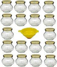 Viva Haushaltswaren - Juego de tarros de Cristal