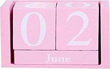 VOSAREA Calendario perpetuo de Madera Que Nunca