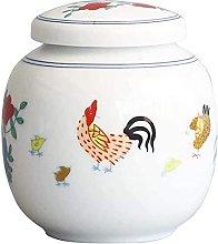 VWJFHIS Carrito de té de cerámica Latas de