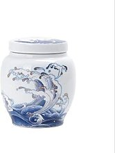 VWJFHIS Latas de té Sueltas de cerámica con Tapa