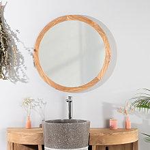 Wanda Collection - Espejo Ojo de buey 68 cm de teca