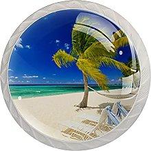 WARMFM Árbol de coco de playa de verano Juego de