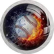WARMFM Béisbol deportivo Juego de 4 pomos para