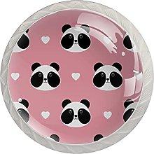 WARMFM Lindo panda Juego de 4 pomos para muebles