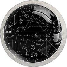 WARMFM Matemáticas Juego de 4 pomos para muebles