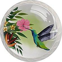 WARMFM Pájaro Exótico Colibrí Flores Tropicales