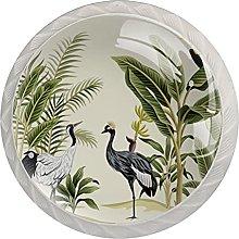 WARMFM Pájaro Tropical Vintage Juego de 4 pomos