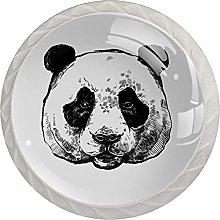 WARMFM Panda Juego de 4 pomos para muebles para el