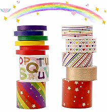 Washi Tape Set,13 rollos cinta adhesiva decorativa