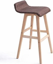 WDX- Taburete de bar de madera maciza, taburete de