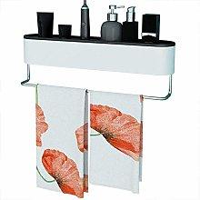 WECDS Estante de almacenamiento de toallas para