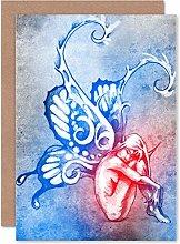 Wee Blue Coo Fantasy - Tarjeta de felicitación de