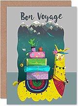 Wee Blue Coo Llama Bon Voyage - Tarjeta de